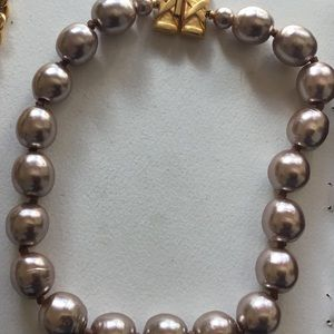 Karl Lagerfeld Big Chunky Taupe Pearl Necklace